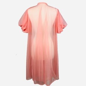 Vintage Intimates & Sleepwear - 🔖SOLD🔖 Vintage Pink Sheer Boudoir Jacket